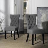 Gretchen 21''H Tufted Side Chair in Granite/Black (Set of 2) - Safavieh MCR4719B-SET2