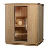 "Almost Heaven Saunas LLC Madison 3 Person Indoor Traditional Steam Sauna in Cedar, Solid Wood, Size 80""H X 53""W X 65""D | Wayfair AHMAD2PRU"