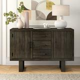 "Gracie Oaks Westboro 54"" Wide 3 Drawer Buffet Table, Wood in Gray, Size 18"" L x 54"" W x 36"" H | Wayfair LATR4251 32930083"