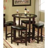Millwood Pines Landaverde 5 Piece Dining SetWood/Glass/Upholstered Chairs in Brown, Size 30.0 H x 36.0 W x 30.0 D in | Wayfair RDBS9434 34479699
