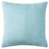 CompanyC Waffle Matelasse Sham Cotton Blend in Blue, Size 21.0 H x 27.0 W in | Wayfair 10808-LAKE-STAND