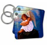 3dRose Angel Key Chain in Blue, Size 2.25 H x 2.25 W x 0.16 D in   Wayfair kc_703_1