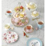 Royal Albert 100 Years 1920 3 Piece Bone China Teacup Set Bone China/Ceramic in Brown/Green/White, Size 3.62 H x 8.34 W in | Wayfair 40017588