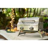 Megamaster Stainless Steel 2-Burner Flat Top Propane Gas Grill Metal, Size 15.87 H x 20.27 W x 19.13 D in   Wayfair 820-0033M