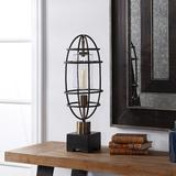 Uttermost Newton Black Metal Uplight Buffet Table Lamp