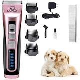 GOFUN Pet Grooming Clippers - 3 Speed Cordless Low Noise Dog Shavers Clippers Powerful Dog Trimmer Rechargeable Pet Dog Hair Clippers Electric Hair Clippers Set for Dogs Cats