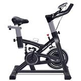 IDEER LIFE Indoor Cycling Bike Stationary Exercise Bike for Home Cardio Workout Smooth Belt Drive with Hand Pulse Sensor/LCD Display/Tablet Mount/Comfortable Seat Cushion(Black09060)