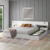 Orren Ellis Fleeton Bedroom Set Wood in Black/Brown/White, Size Queen   Wayfair 7ECEC54FBCB44AF0BB318AE01D943D9F