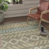Union Rustic Renee Gray/Sky Blue Area Rug Polyester in Blue/Gray, Size 168.0 H x 120.0 W x 0.41 D in   Wayfair DCEC12F74F30426B9D7C0E61CAF491FD