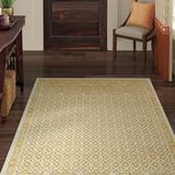 World Menagerie Omarion Gold/Cream Area Rug Polyester in White, Size 168.0 H x 120.0 W x 0.32 D in | Wayfair 9C01F2C93D274891AEA083798BEBBE49
