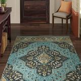 World Menagerie Patrie Navy/Flaxen/Tan Area RugPolyester in Blue/Navy, Size 120.0 H x 96.0 W x 0.41 D in   Wayfair 4C865882A690496483A9B11FD0691E46