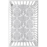 Sweet Jojo Designs Elizabeth Mini Fitted Crib Sheet Cotton in Gray/White, Size 5.0 H x 24.0 W x 38.0 D in | Wayfair MiniSheet-Elizabeth-GY-PK-PRT