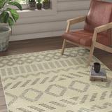 Union Rustic Jacqueline Cream Area Rug Polyester in White, Size 96.0 H x 60.0 W x 0.41 D in   Wayfair 86336AC61ADB4CD5BE31C77524F69D9B