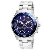 Invicta 21788 45 in. Mens Pro Diver Quartz Chronograph Blue Dial Watch