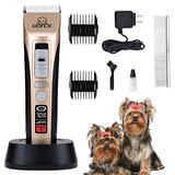 GOFUN Pet Grooming Clippers - 5 Speed Cordless Low Noise Dog Shavers Clippers Powerful Dog Trimmer Rechargeable Pet Dog Hair Clippers Electric Hair Clippers Set for Dogs Cats,Pets