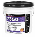 ROBERTS 7350-4 Floor Adhesive, 4 gal, Pail, Off White, Latex Base, Begins to