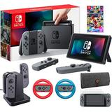 Nintendo Switch 32GB Console with Mario Kart 8 Deluxe & Accessories Bundle