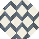 Corrigan Studio® Bock Ikat Blue/White Area Rug in Blue/Brown/White, Size 120.0 H x 120.0 W x 0.48 D in | Wayfair 294CD15769FA48D0AA53CE870B7108FE