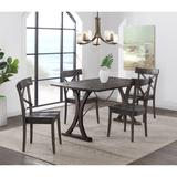 Camden Folding Top 5PC Dining Set-Table & Four Chairs - Picket House Furnishings LNB100FTCOW5PC