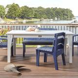 Uwharrie Chair Jarrett Bay Solid Wood Dining Table Wood in Blue, Size 21.0 H x 48.0 W x 40.0 D in | Wayfair JB92-P27