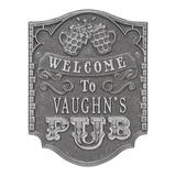 Whitehall Products Pub Welcome 4-Line Wall Decor Metal, Size 12.75 H x 9.75 W in | Wayfair 3353PS