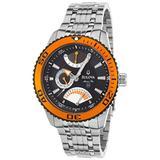 Bulova Men's 98B112 Marine Star Stainless Steel Bracelet Black Dial Watch