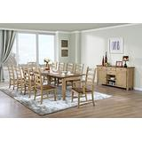 Sunset Trading Brook Dining Table Set, Expandable, 4 Size, Distressed Sonoma Oak and Light Walnut