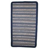 Thorndike Mills Beantown Braided Rug 6' x 6' Square Charles River Blue