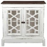 Sunset Trading Shabby Chic Cottage Cabinet, Whitewash with raftwood top
