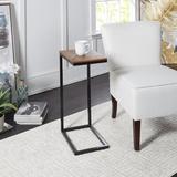 Wrought Studio™ Cindi End Table Wood/Metal in Black/Brown, Size 25.5 H x 16.0 W x 10.0 D in | Wayfair 1759BF7AED0440AE81C2A6C52DEED9D3