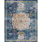 Ankara Global 8' x 10' Blue Oushak Area Rug - Nourison ANR03