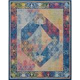 Ankara Global 8' x 10' Blue Multicolor Boho Area Rug - Nourison ANR04