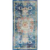 Ankara Global 2' X 4' Blue Oushak Area Rug - Nourison ANR03