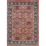 Ankara Global 5' x 8' Red and Blue Multicolor Persian Area Rug - Nourison ANR02
