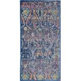Ankara Global 2' X 4' Navy Blue Multicolor Moroccan Area Rug - Nourison ANR08