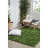 Fantasia Green Shag Area Rug - Nourison FAN1