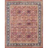 Ankara Global 9' x 12' Red and Blue Multicolor Persian Area Rug - Nourison ANR02