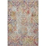 Ankara Global 4' x 6' White and Orange French Country Area Rug - Nourison ANR06