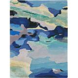 Prismatic 2'x3' Blue and Green Small Abstract Area Rug - Nourison PRS04