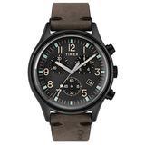 Timex Mens Chronograph Quartz Watch with Leather Strap TW2R96500