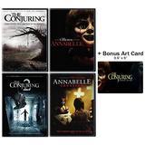 The Conjuring & Annabelle Horror Series: 4 Movie DVD Collection (The Conjuring 1 & 2 / Annabelle / Annabelle: Creation) + Bonus Art Card
