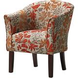 BOWERY HILL Upholstered Floral Accent Chair
