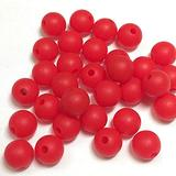 Silicone Beads Bulk - Jewelry Making Kit for Adults - 19mm 100pc Silicone Bead Set for Necklaces, Bracelets, Adult Crafts Bead Supplies, Chunky Round Beads (19mm, 8 RED)