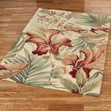 """Paradise Foliage Rectangle Rug Ivory, 7'9"""" x 9'6"""", Ivory"""