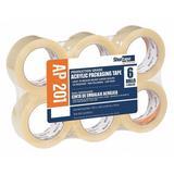 SHURTAPE AP 201 Packaging Tape,48mm W,100m L,PK6