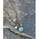 Boho Treasures by Wise Creations Women's Necklaces BLUE, - Blue Floral & Bird Beaded Pendant Necklace