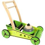 small foot wooden toys Lawn Mower & Baby Walker playset Designed for Children 12+ Months