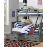 Donco Kids Bunk Bed BRUSHED - Gray Mission Twin/Full Bunk Bed & Drawer Set