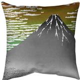 East Urban Home Katsushika Hokusai Fine Wind Clear Morning Euro Pillow in Red/Green, Size 26.0 H x 26.0 W x 2.0 D in | Wayfair