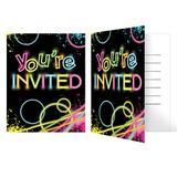 Creative Converting Glow Invitations Paper in Black | Wayfair DTC318134INV